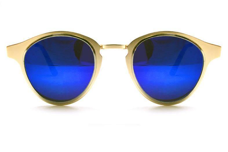 SPITFIRE WARP GOLD/SILVER/BLUE SUNGLASSES