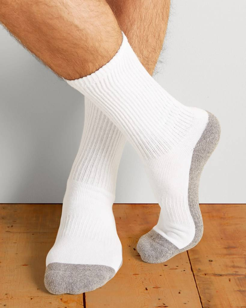 GILDAN GILDAN MEN'S SPORT SOCK 6 PACK GP751-6MGF-02