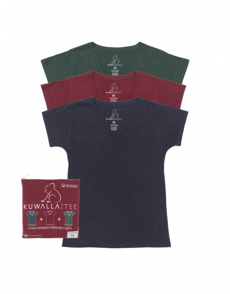 KUWALLA KUWALLA WOMEN'S 3 PACK T-SHIRT KUL-WHV018