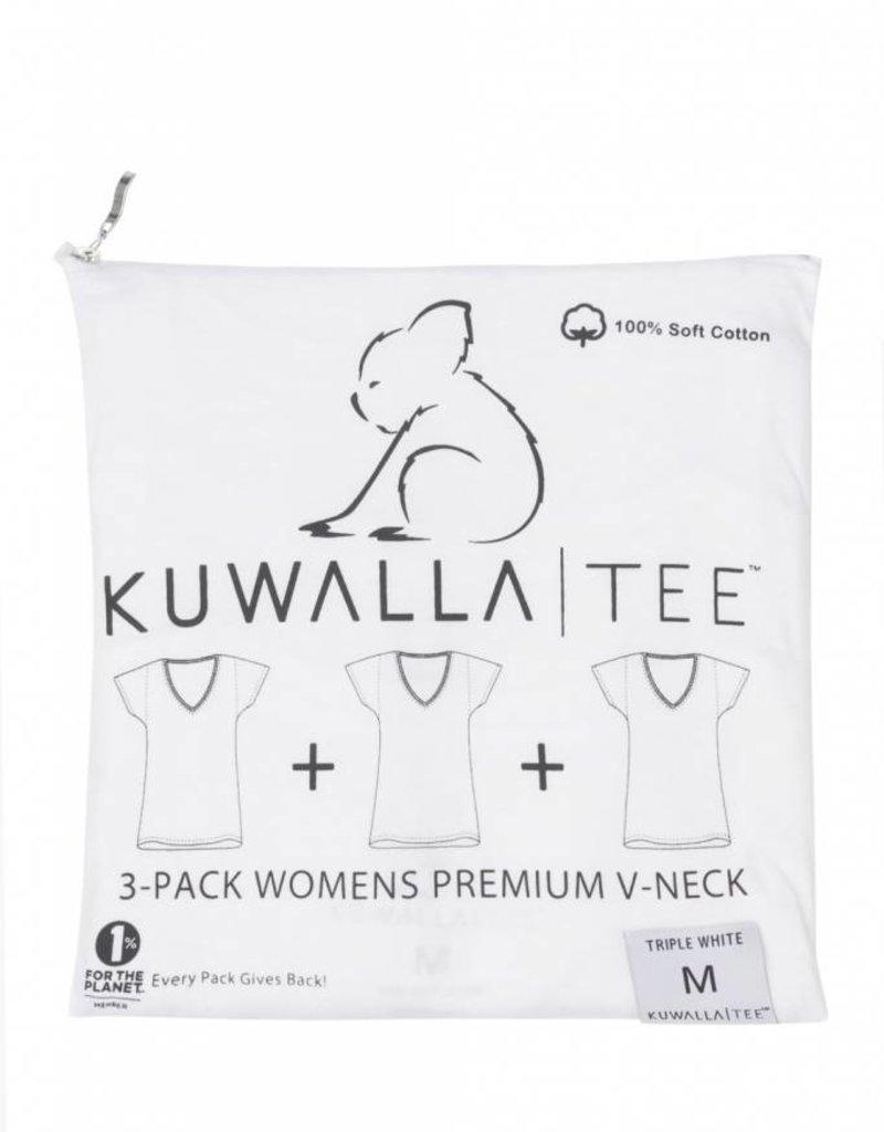 KUWALLA KUWALLA WOMEN'S 3 PACK T-SHIRT KUL-WVW018