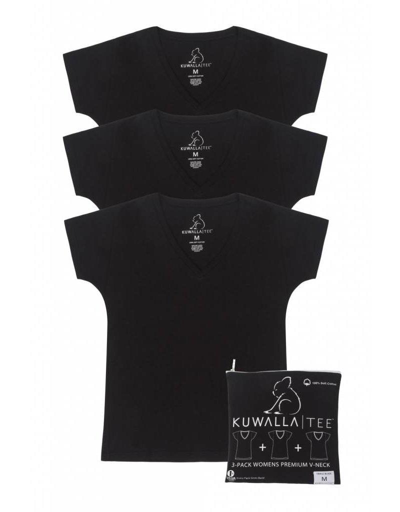 KUWALLA KUWALLA WOMEN'S 3 PACK T-SHIRT KUL-WVB018