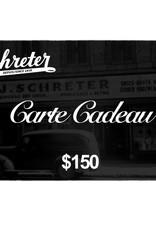 SCHRETER CARTE-CADEAU