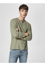SELECTED SELECTED MEN'S GRAND SPLIT NECK TEE 16059780