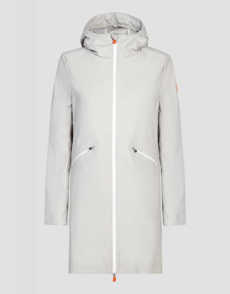 SAVE THE DUCK SAVE THE DUCK WOMENS HOODED COAT-S4428W-RAIN