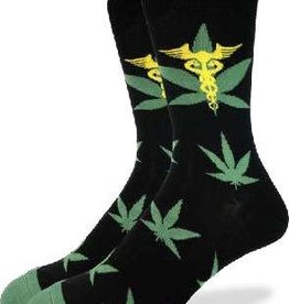 GOOD LUCK GOOD LUCK SOCK MARIJUANA LEAFS 1344