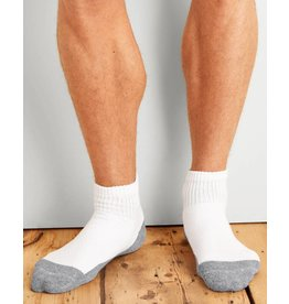 GILDAN GILDAN MEN'S 6 PACK SOCK QUARTER GP731-6MGF-02