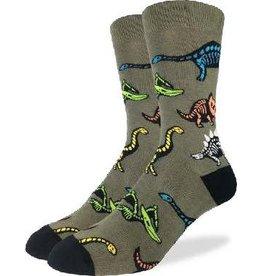 GOOD LUCK Good Luck Sock Dinosaur Skeletons 1405 Vert 7-12