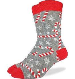GOOD LUCK Good Luck Sock Candy Canes 1382 Gris 7-12
