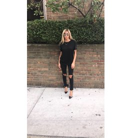 LEXI DREW Lace Up Tee