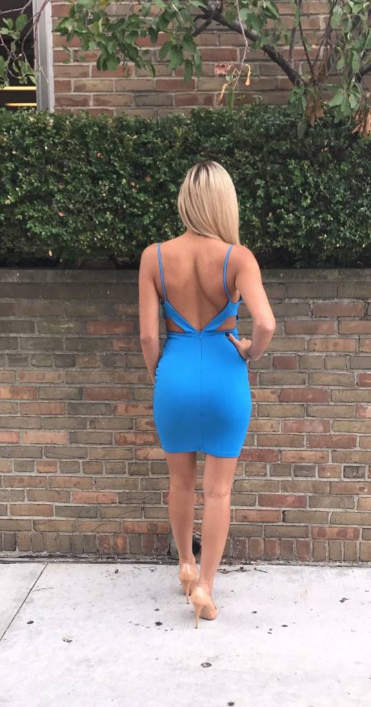LEXI DREW 258 Open Back Dress