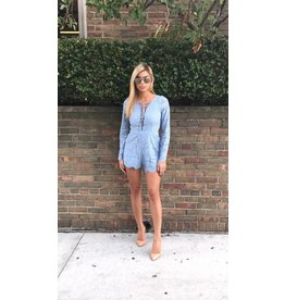 LEXI DREW Laced Up Romper