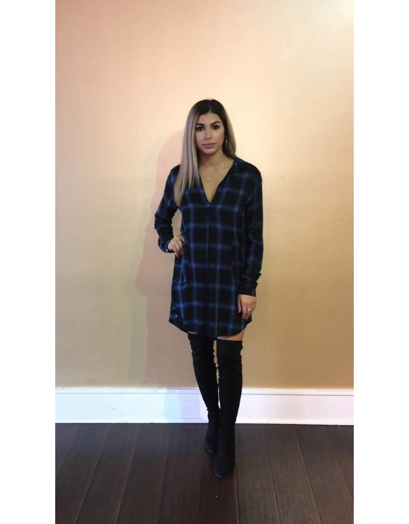 LEXI DREW 771 Long Sleeve Plaid Dress