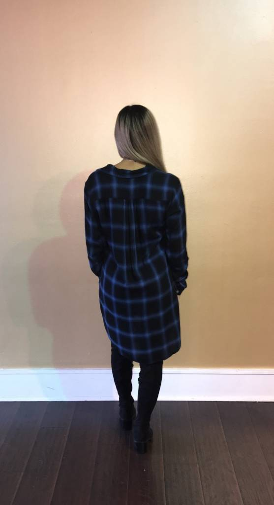 LEXI DREW 771 Long Sleeve Plaid Dress