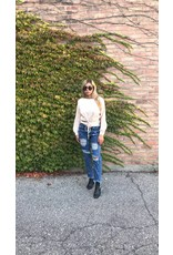 LEXI DREW 045 Lace Up Sweater