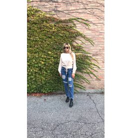 LEXI DREW Lace Up Sweater