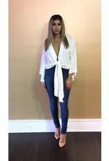 LEXI DREW 269 Kimono Sleeve Wrap Blouse