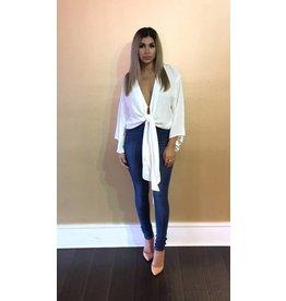 LEXI DREW Kimono Sleeve Wrap Blouse