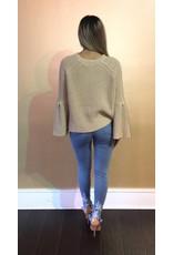 LEXI DREW 571 Ruffle Sleeve Sweater