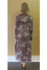 LEXI DREW 653 Satin Long Kimono