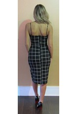 LEXI DREW Checker Print Dress