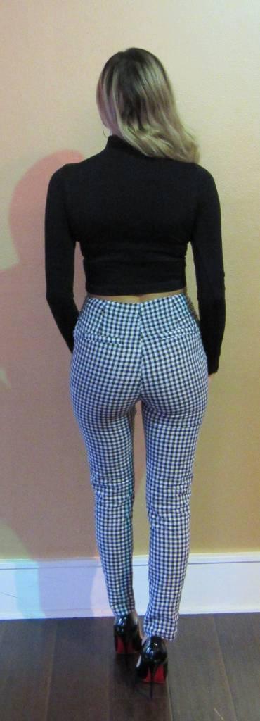 Honey Punch 842 Gingham Pants