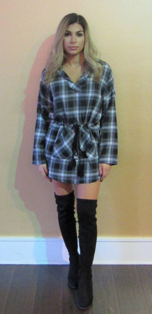 LEXI DREW 527 Plaid Mini Dress