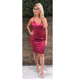 LEXI DREW 092 Satin Dress