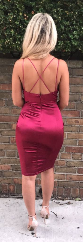 LEXI DREW Satin Dress