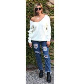 LEXI DREW Reversable Twist Sweater
