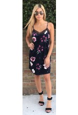 LEXI DREW 279 Velvet Slip Dress