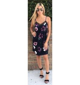 LEXI DREW Velvet Slip Dress