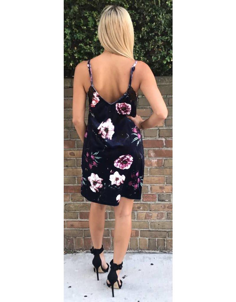 LEXI DREW 279 Velvet Slip Dress
