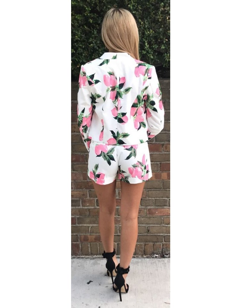 LEXI DREW 387 Floral Short Set