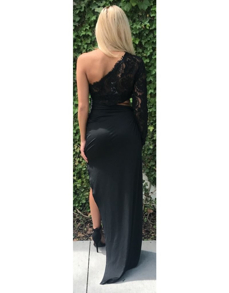 LEXI DREW 336 Lace Side Dress