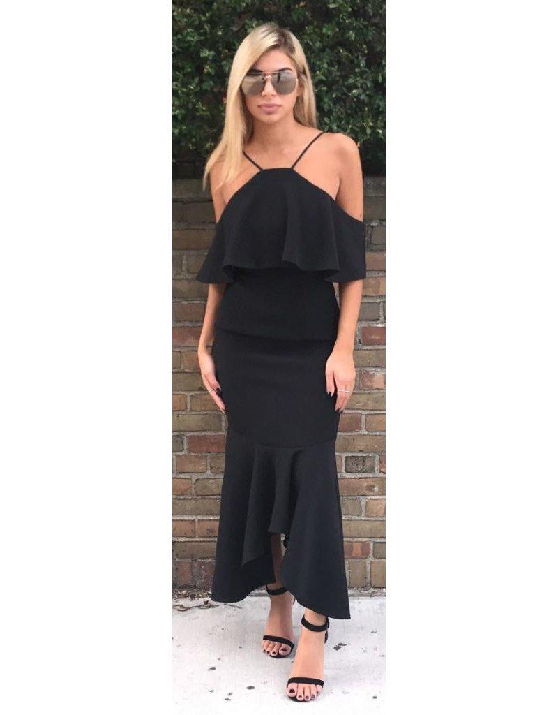LEXI DREW 715 Ruffle Bottom Dress