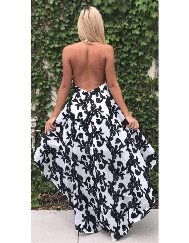LEXI DREW 720 Floral Hi Low Dress
