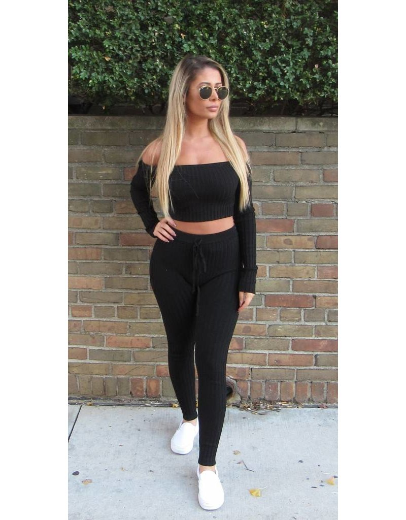 LEXI DREW Ribbed Legging Set