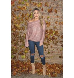 LEXI DREW Off Shoulder Sweater