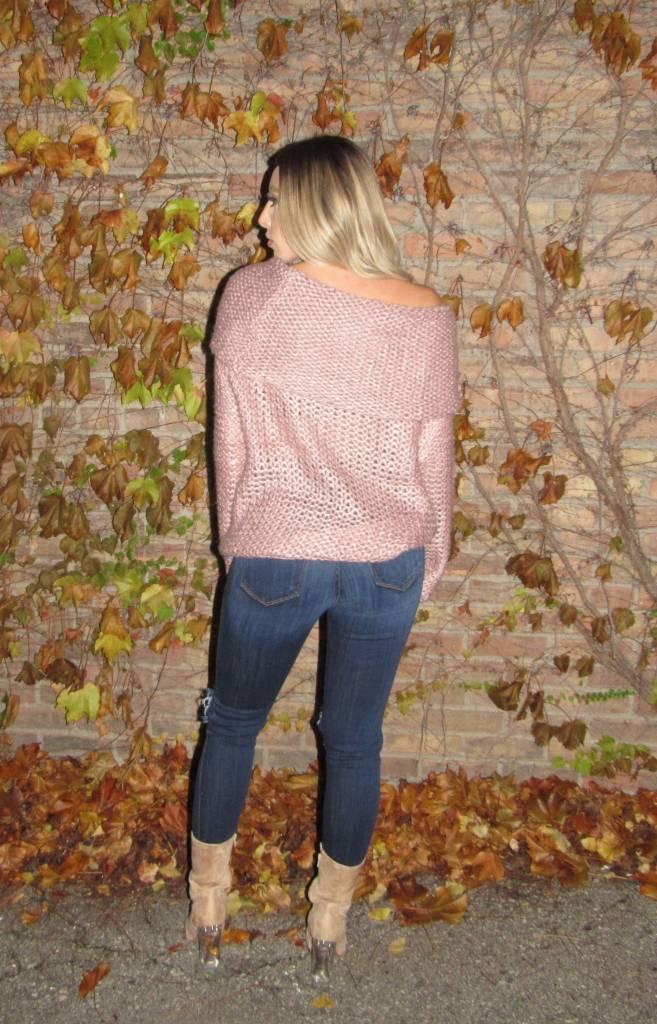 LEXI DREW Off Shoulder Sweater