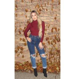 LEXI DREW Sweater Bodysuit