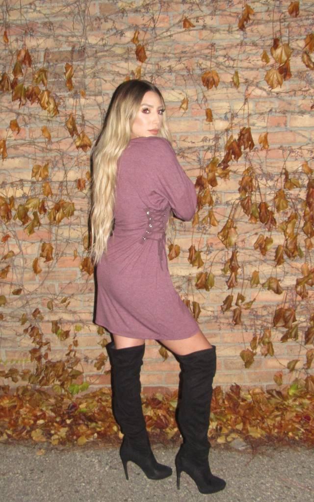 LEXI DREW Side Lace Dress