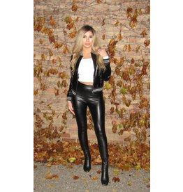 LEXI DREW Leather Bomber