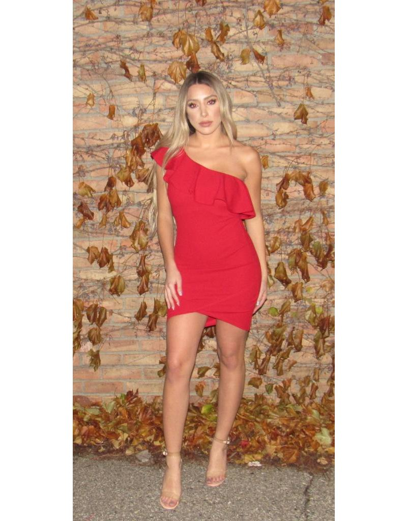 LEXI DREW 627 One Shoulder Mini Dress