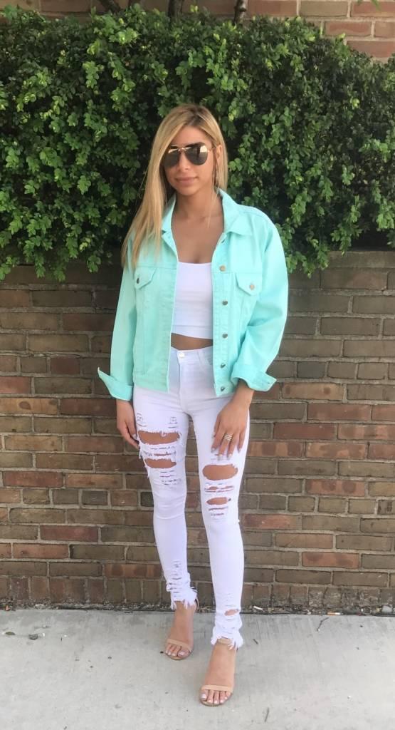 LEXI DREW Destroyed Jeans