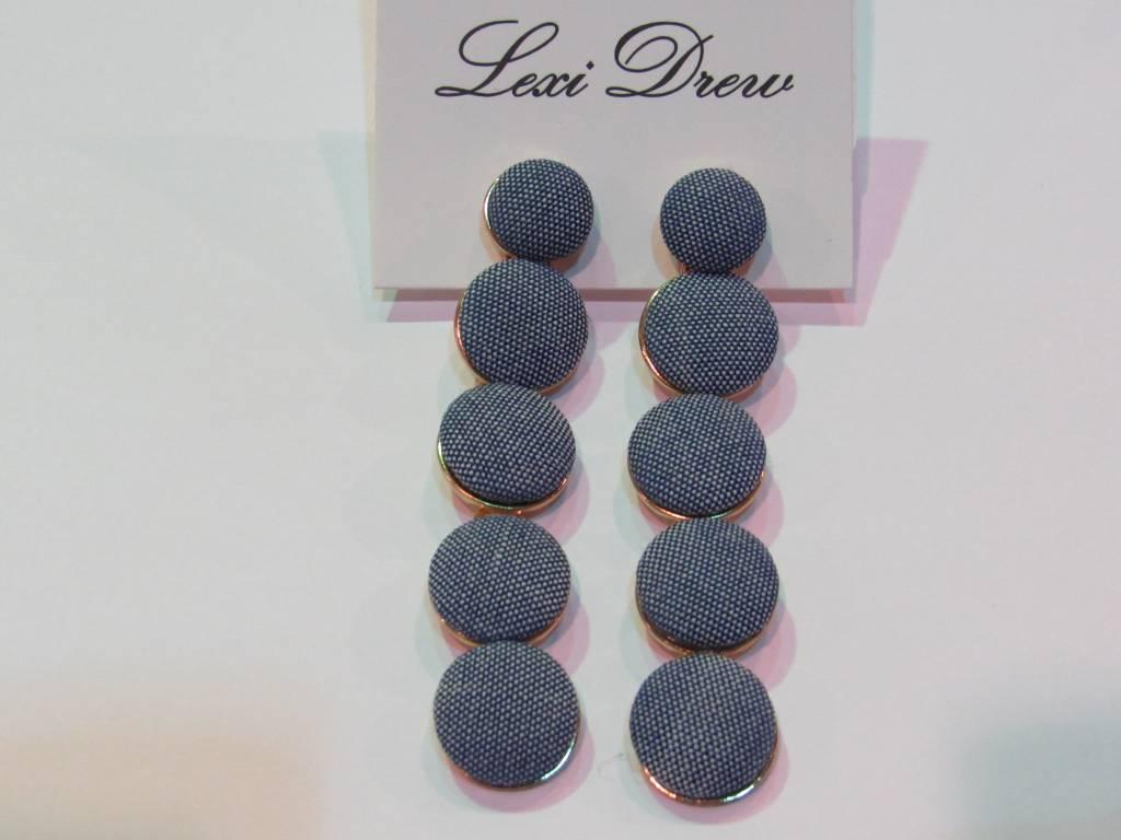 LEXI DREW Denim Drop Earrings