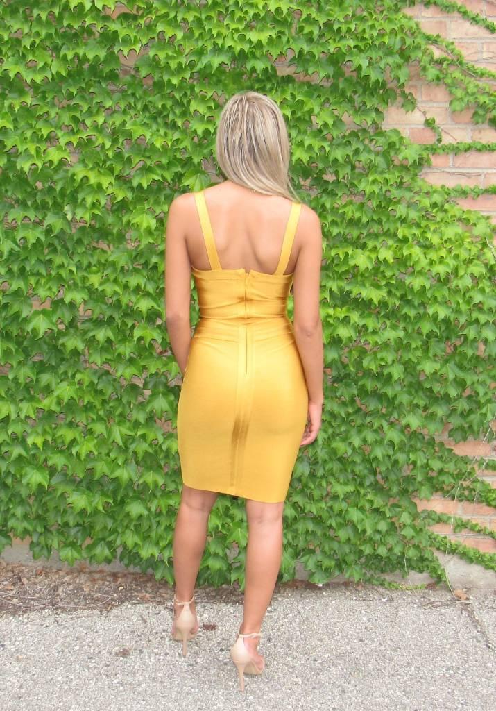 LEXI DREW Tie Waist Dress