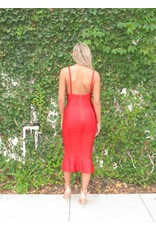 LEXI DREW Ruffle Hem Dress