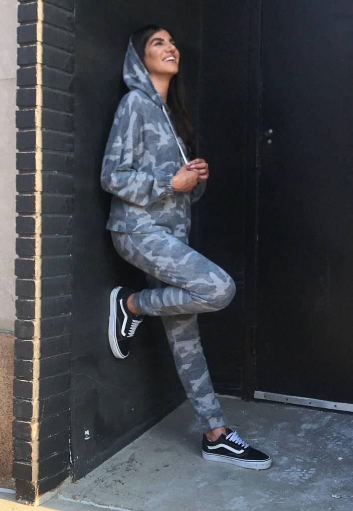 LEXI DREW Camo Drawstring Pants