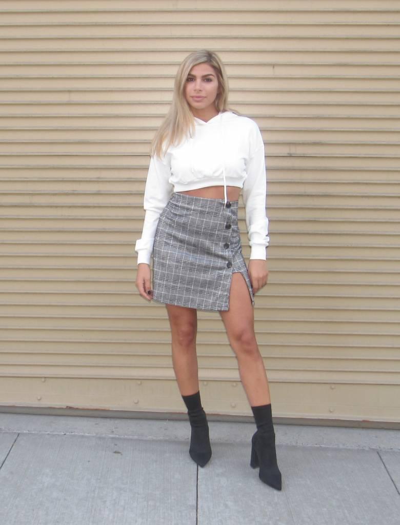 LEXI DREW Check Short Skirt