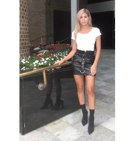 LEXI DREW Faux Leather Skirt
